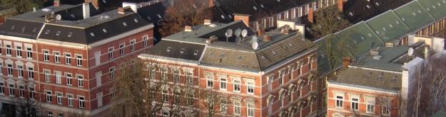 Schrägluftbild des Stadtteils Hamburg-Hoheluft