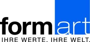 """Logo der formart GmbH & Co KG mit dem Slogan """"Ihre Werte. Ihre Welt"""""""